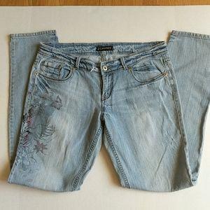 Z Cavaricci Size 11 Distressed Bleached Jeans